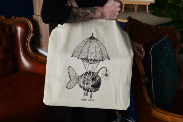 Tote bag : Poisson-Lanterne – Clink Art & Tattoo