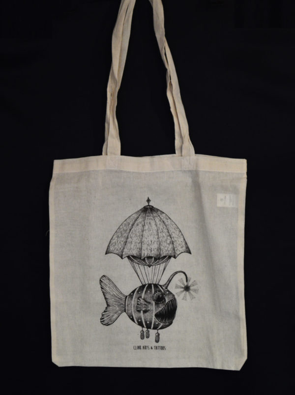 Tote bag : Poisson Lanterne – Clink Art & Tattoo