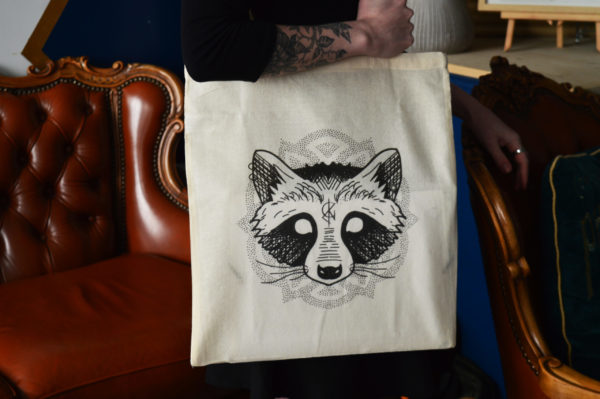 Tote bag : Raton Laveur – Clink Art & Tattoo