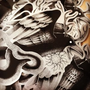 Sticker : Corbeau — Clink Art & Tattoo